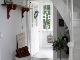 A small hallway in the Scandinavian style