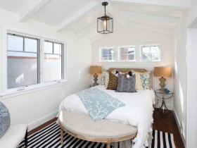 Interior design white bedroom