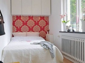 Beautiful small bedroom in Scandinavian style