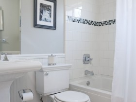Small bathroom in white color