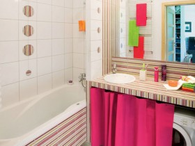 Small bathroom in bright colors