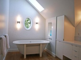 Small bathroom in cottage