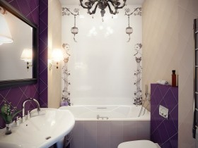 Creative bathroom interior small size