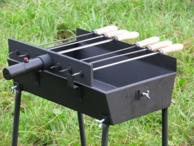 Modern small charcoal grill