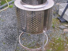 A grill out of a drum washing machine