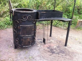Functional wrought iron grill