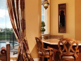 Combined dining room in Moroccan style