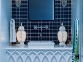 The design of the wash basin in the Moroccan style
