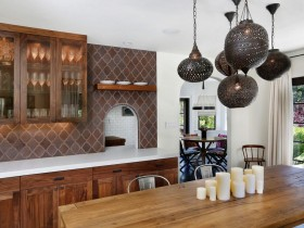 Kitchen in brown