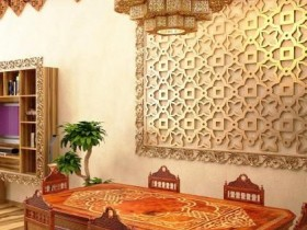 Finish the walls in a Moroccan style