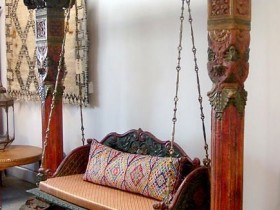 Swing in the house of the Moroccan style