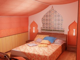 The idea of the bedroom design in Moroccan style