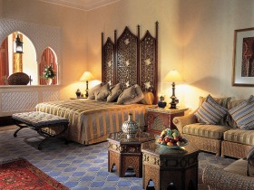 Luxurious bedroom in Moroccan style