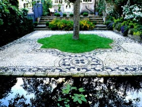 Garden design with pond