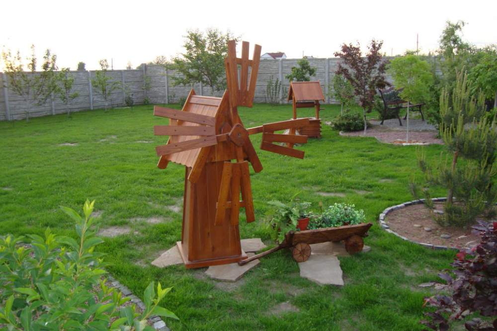 Мельница в сад своими руками фото