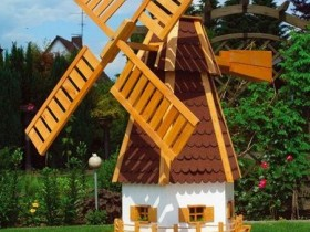 Original design decorative windmill in the country