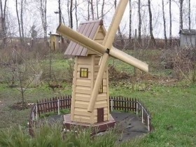 Ornamental windmill in the garden design
