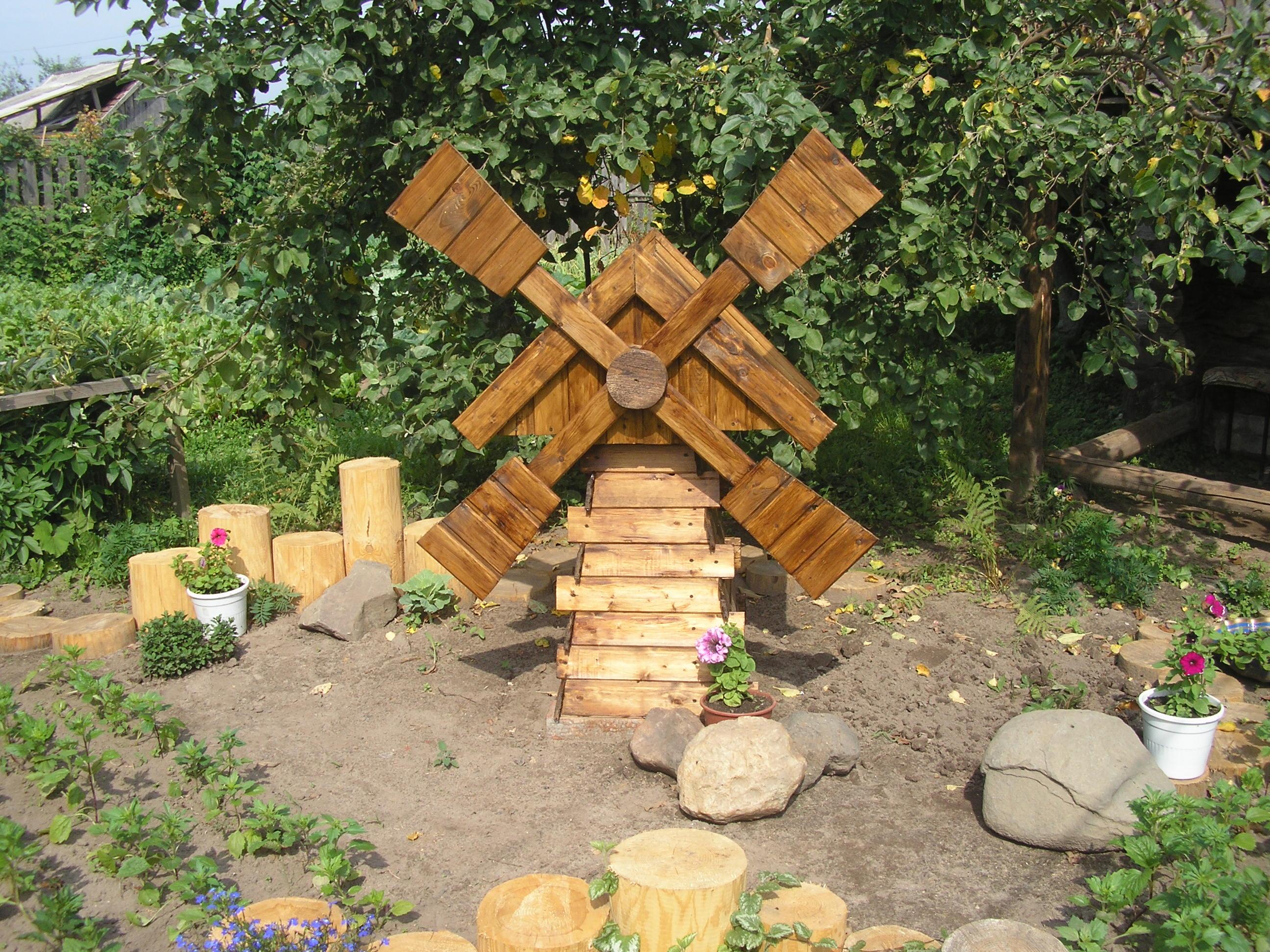 Декор для сада и огорода ветряная мельница
