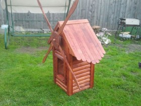 Small decorative windmill wood