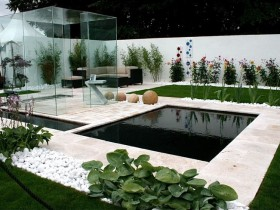 The idea of modern minimalist garden