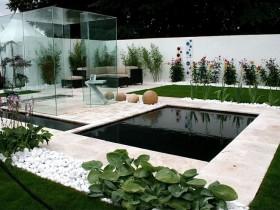 Идея современного минималистского сада