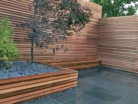 Оформление минималистского сада