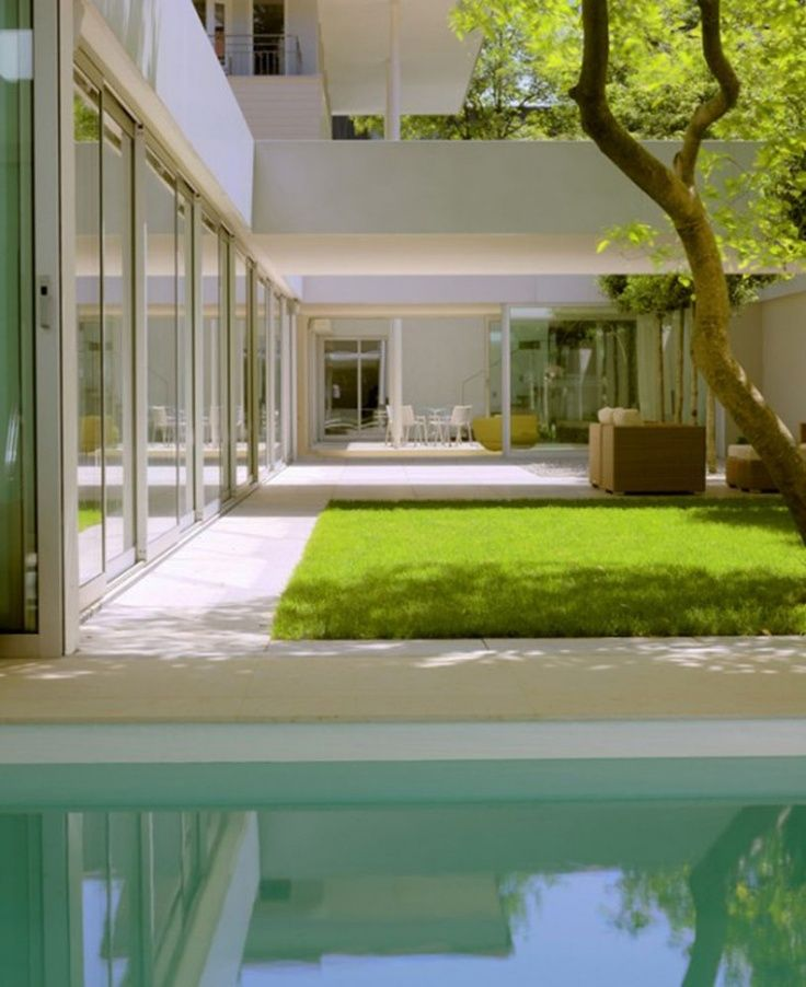 Home Decor 2012 Modern Luxury Homes Beautiful Garden: Фото дизайна сада в стиле минимализм