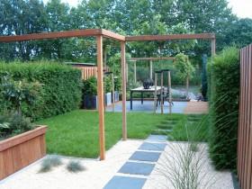 Садовый участок в стиле минимализм