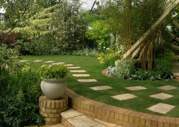 Садовая дорожка в стиле модерн
