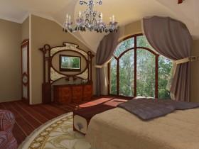 Идея дизайна спальни в стиле модерн