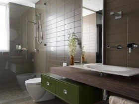 Bathroom in the style of modernism