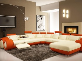 Living room interior style modernism