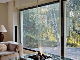 Fireplace in modern style