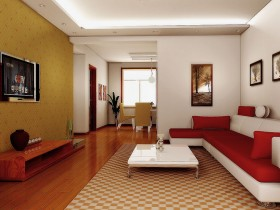 Apartment interior in contemporary style