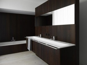 Bathroom design in the style of modernism