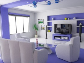 The idea living room design in modern style