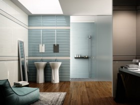 Bathroom interior style modernism