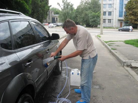 Пример автомобильной минимойки