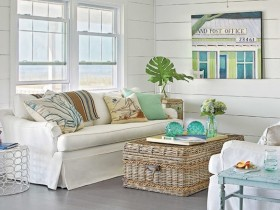 The idea of living room design in marine style