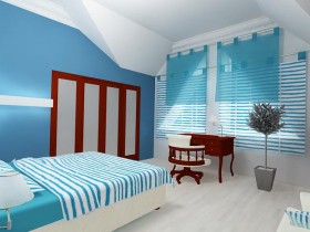 Bedroom decoration in marine style
