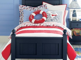 Bed in a marine style