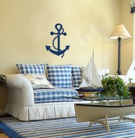 Living room interior in a marine style