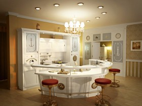 Kitchenette in a marine style