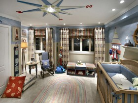 Bedroom for a child in a marine style