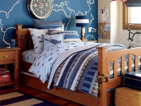 Children's bed in a marine style