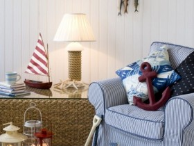 Accessories in the interior marine style