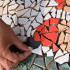 The technology of creating mosaic patterns with their hands