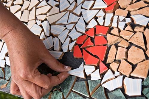 Садовая мозаика своими руками. Для дачников. ру 7