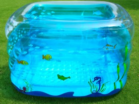 Design children's inflatable pool