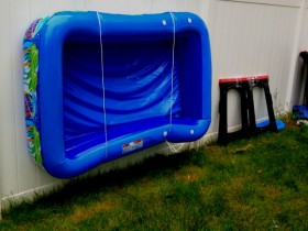 The idea of storing an inflatable pool